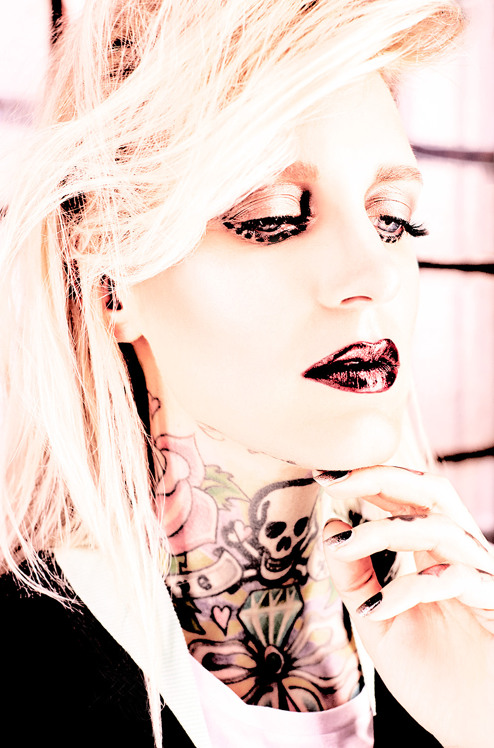 portrait of lexy hell tattoo model libertine mag photography berlin