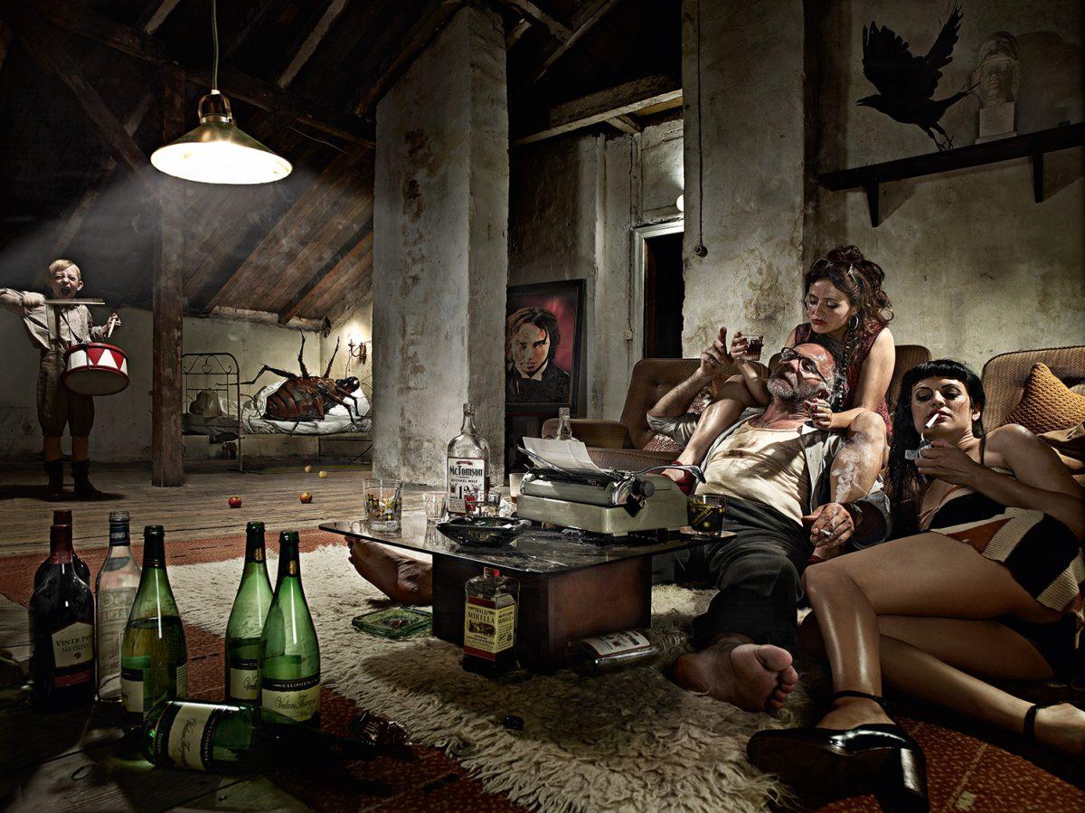 literature scenes Bukowski Blechtrommel die Verwandlung the raven people Photography Berlin