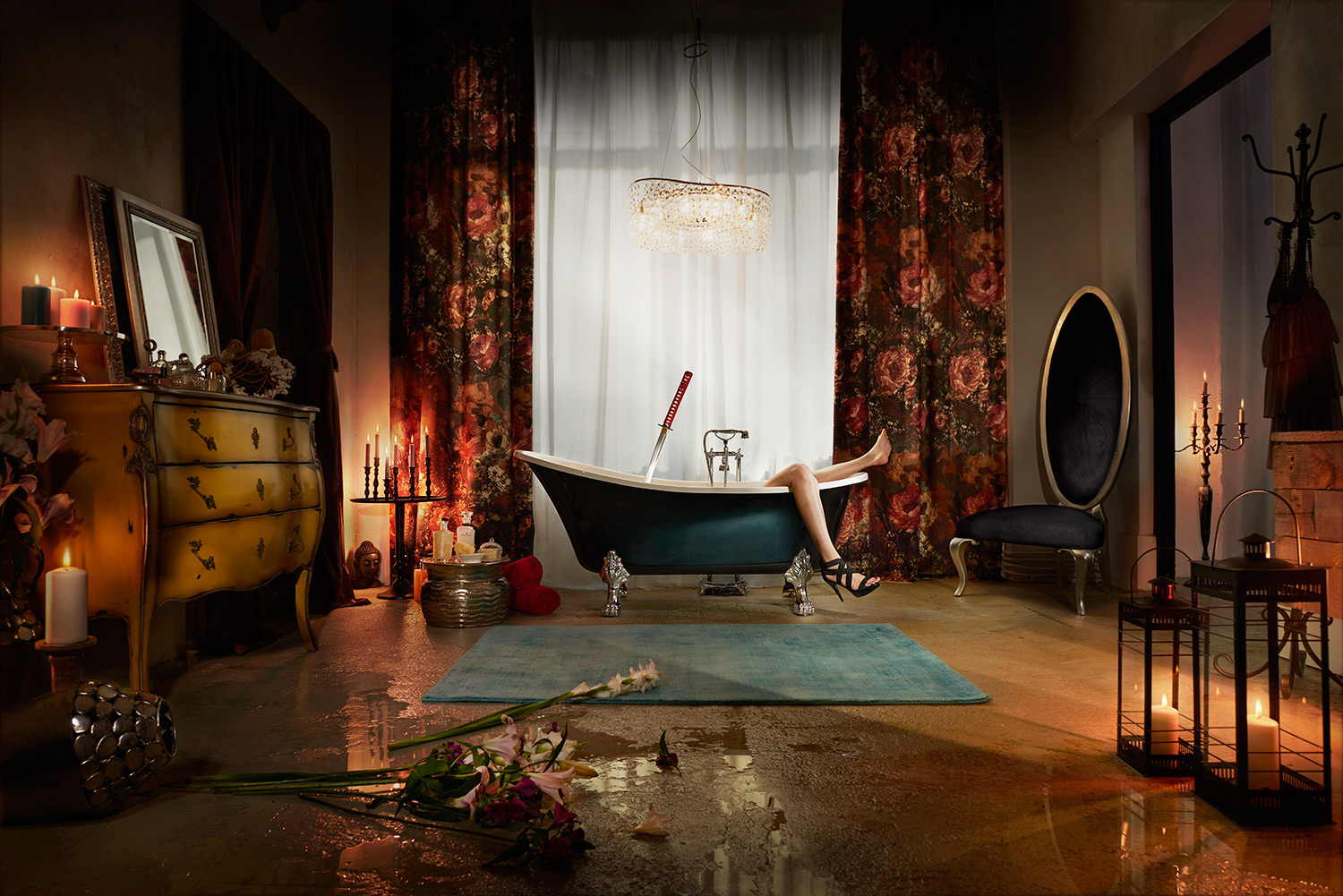 interior design online campaign murder bathroom photography berlin