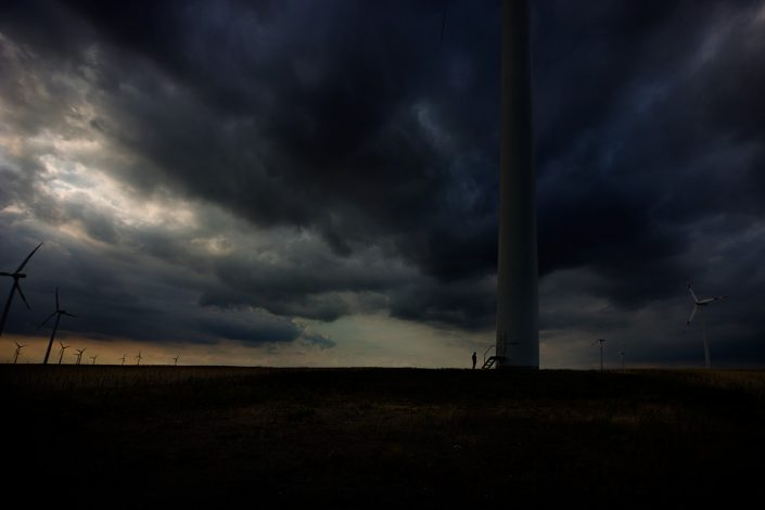 wind energy photography landscape storm man